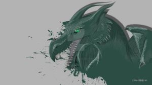 Emerald Dragon by Dead-Standing-Tree