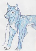 Shilos, The Ribbon Wolf. by CosmicZ