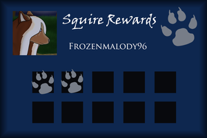 Frozenmelody96 Squire Rewards Card by SapphireSquire