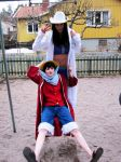 Luffy and Robin by Cecelin0