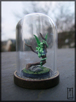 Wood Sprite Under Bell Jar by Siobhan68