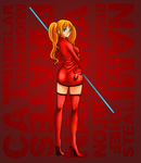 Femme Fatale In Red by cromarlimo