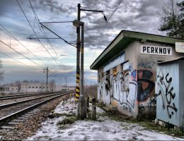 Railway station Perknov by BinLadin007