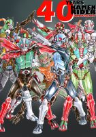 40 Years Kamen Rider Anniversary by PeaceGuy