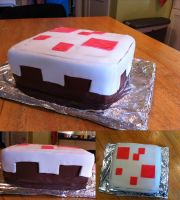 Minecraft Cake by nolightss