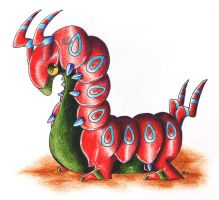 Shiny Scolipede by Kureeru