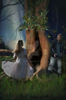 Allison and the Enchanted Forest- book cover by marthig