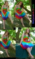 Tie Dye Dress Stock IV by Melyssah6-Stock