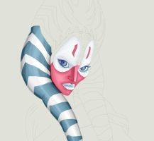 Shaak Ti WIP by forcecrush