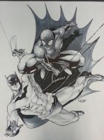 spiderman and batman WTF !? by Sajad126