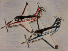 The Pilatus PC-12 Twins by Northwestern-Viola13