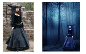 Before and After -Witch of Blue Roses by gloriagypsy