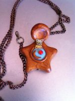 Star Locket Necklace by bittykitty