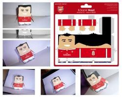 Paper Toy Nasri Arsenal h 08 by Nasrian