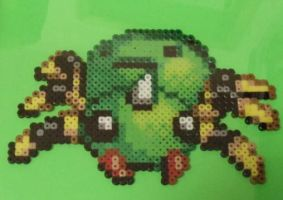 Spinarak Perler Bead Sprite by TheSuperBoris