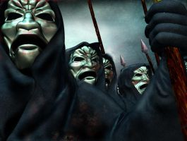 the immortals from 300 by jeffwildstar