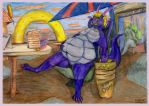 Jokull in donut world 2 of 5 2 First stuffing days by SSsilver-c