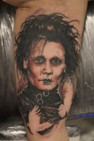 Edward scissorhand tattoo by graynd
