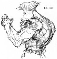 Guile sketch by FabyLeon