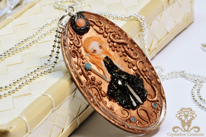 Polymer Clay and Resin Copper Elf by Crystarbor