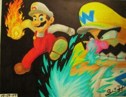 Mario vs Wario by Sugashane09