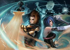 Three Keyblade Masters by Noxypia