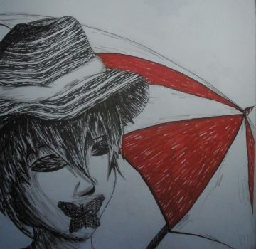 (unfinish) Shadow Man Umbrella Man!CLOSE UP!!!!! by iCrave4Anime
