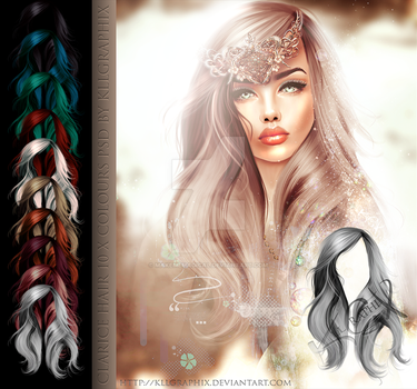 Clarice Hi Res Instant Hair STOCK PSD  x 10 by MakeMeMagical
