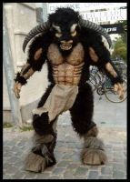 Minotaur suit by Meatshop-Tattoo