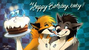 Happy Birthday wolfie! by SilverDeni