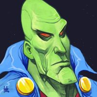 Daily Sketches Martian Manhunter by fedde