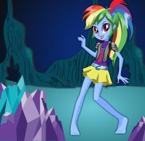 Late Night Walk Rainbow Dash by kimpossiblelove