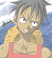 One Piece - Luffy Quickie by thegreatlimechan