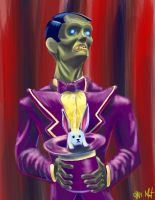 Zombie Magician by chrismoet