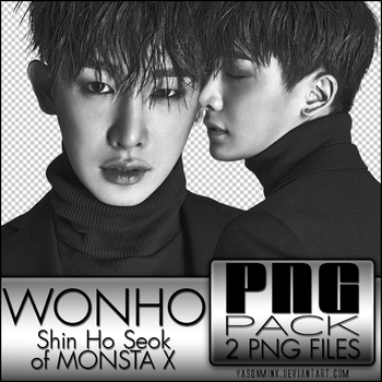 PNG pack 'Wonho (of MONSTA X)' by yasonmink