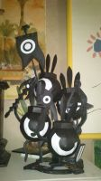 Patapon papercraft figures by Yuki-Myst