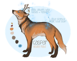 Caspar Ref Sheet by melonstraw