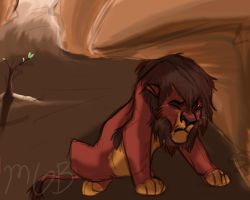 Kovu in Despair by melted-gummy-bears