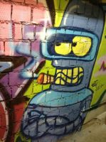 Bender is great! Graffiti by LeenaKill
