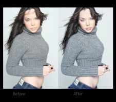 Before - After retouche by cythux