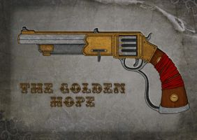 Concept Art Weapon 01: The Golden Hope Pistol by Ulamb