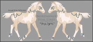 A2067 SkyLight Foal Design Holder by HoT-Stables