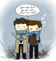 Supernatural - Do you even feel the cold? by caycowa