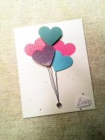 Heart-Shaped Balloons Valentine by CelidahD