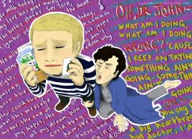 Sherlock ArtTrade with NekoWork ^_^ by ryokuZero91