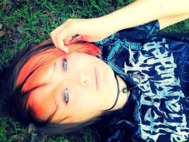 laying on the grownd by sam13gidget