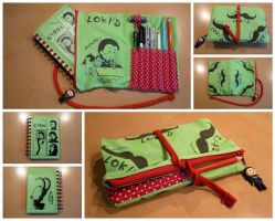 Loki'd pencil case by Freaky-chan