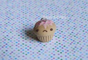Un Happy Cupcake Charm by RawrRufus