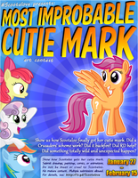 Most Improbable Cutie Mark contest poster by Scootabyte