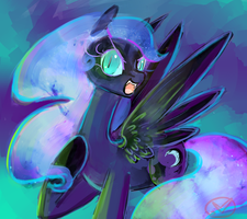 Nightmare Luna by RyuRedwings